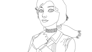 bioshock infinite elizabeth fanart lineart by chriseffect15 on