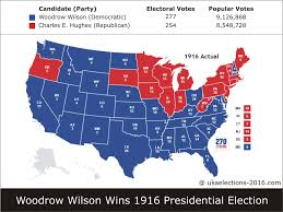 2016 Electoral Map Pre by 1916 Presidential Election Result Woodrow Wilson Democratic