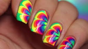 easy u0026 fun rainbow nail art tutorial for beginners nail designs