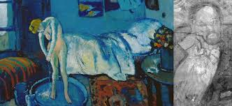la chambre bleue qui est l homme mystérieux caché dans la chambre bleue de picasso