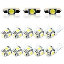 amazon com white interior led light bulb kit upgrade for toyota