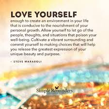 Quotes About Loving And Letting Go by Love Yourself Enough By Steve Maraboli With Article By Becky Vollmer