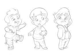 cute cartoon boy sketches drawing of sketch