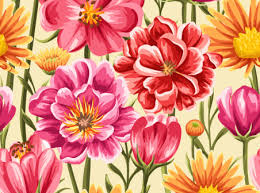 blooming flowers blooming flowers vector background free vector background