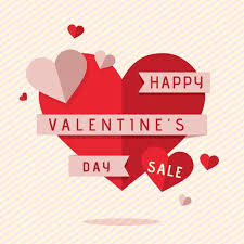 valentines sale s day sale background free vector stock