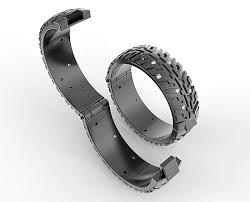 tire wedding rings hinged wedding rings hinged wedding band black gold tire tread