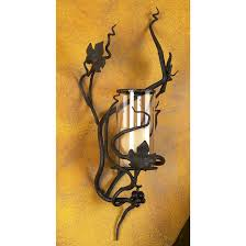 iron hurricane sconce by bella toscana