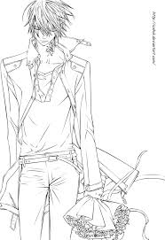 vampire knight coloring pages snap org