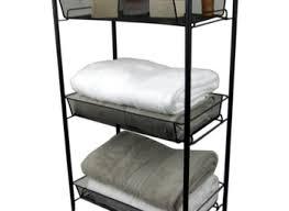 Rolling Bathroom Storage Cart by Rolling Bath Cart Bathroom Storage With Wire Bins Shelf Oil Rubbed