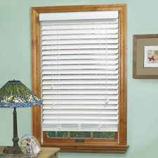 2 Inch White Faux Wood Blinds 2 Inch Faux Wood Blinds White Wooden Blinds With White Window