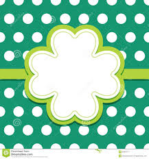 4 leaf clover template st patricks day card with 4 leaf clover text frame stock vector