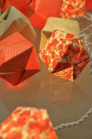 guirlande lumineuse papier japonais guirlande rouge corail guirlandes u0026 origami