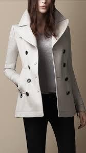 burberry brit wool pea coat in gray lyst