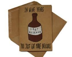 wine birthday card funny birthday card best friend card 50th