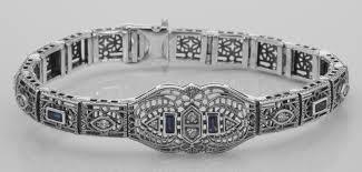 blue sapphire sterling silver bracelet images Fb 44 s jpg jpg