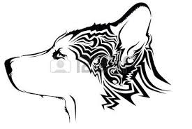 tribal wolf stock photos royalty free business images