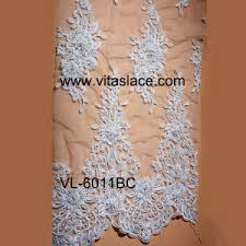 china suppier fashionable bridal lace fabric for wedding dress vl