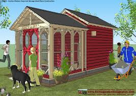 home garden plans cb202 combo plans chicken coop plans