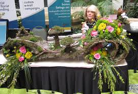 florist nc fairy garden at the flower shop network booth in nc