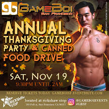 sf restaurants open on thanksgiving gameboi sf annual thanksgiving party u0026 canned food drive 2016