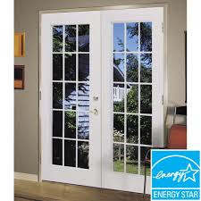 shop reliabilt 6 u0027 reliabilt french patio door steel 15 lite