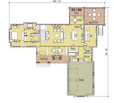 alternate basement floor plan 1st level 3 bedroom house plan with