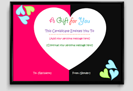 free printable gift certificate templates certificate templates