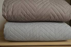 chevron stitched and quilted bedspreads natural bed company
