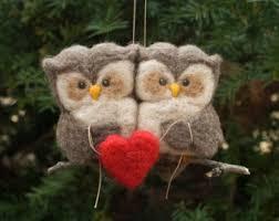 needle felted owl ornament knitting