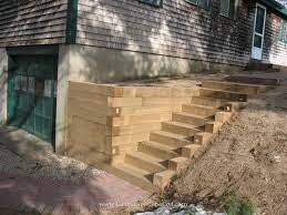 Retaining Wall Stairs Design Homey Design Landscape Timbers Retaining Wall Ideas For Timber