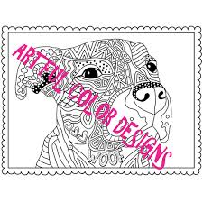 pit bull dog coloring page printable download for dog lovers