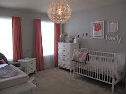 Pink And Grey Girls Bedroom Everly Ann U0027s Coral And Gray Nursery Project Nursery