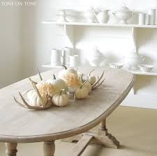 White Ceramic Pumpkin Centerpiece by Tone On Tone Fall Accents