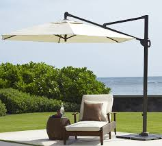 Patio Umbrella Cantilever Cantilever Umbrella Solid Sunbrella Pottery Barn