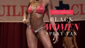 yes black women can spray tan i do youtube