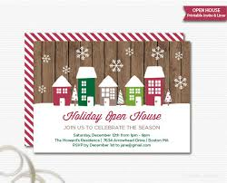 open house invitations open house invitation rustic christmas invitation