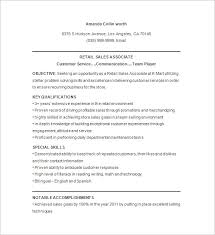 Clothing Sales Resume Retail Sales Associate Resume Example Resume Example And Free