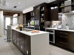 kitchen brown tile flooring brown base cabinets gray