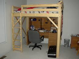 Building A Loft Bed Frame Loft Bed Frame Size With Desk Room Decors And Design