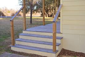 Porch Stair Handrail Do It Yourself Exterior Stair Railing Hunker
