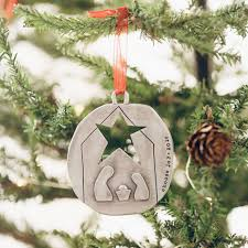 nativity ornament pewter by leonard designs