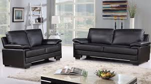 Black Microfiber Loveseat Demetra Modern Bonded Leather And Microfiber Sofa And Loveseat Set
