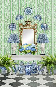 blue and white monday console styling blue first impressions