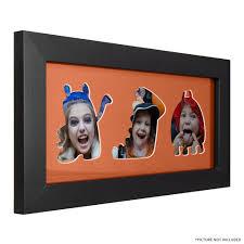 3 opening halloween collage frame with orange mat craig frames