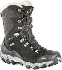 womens boots rei oboz bridger 9 insulated bdry winter boots s at rei