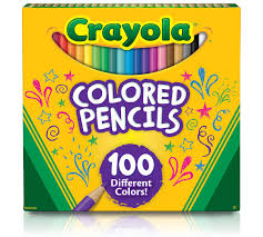 crayola colored pencils 100 count vibrant colors pre sharpened