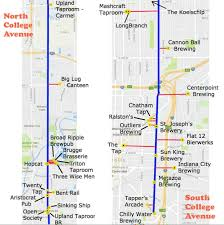 Map Indianapolis Indianapolis Craft Beer Goes To College Avenue Indiana On Tap
