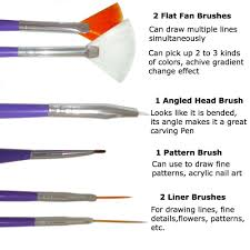amazon com nail art brushes dotting pens marbling detailing
