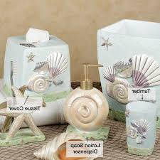 bathroom enchanting seashell bathroom accessories for remarkable