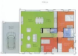 plan de maison plein pied gratuit 3 chambres cuisine maison contemporaine de plain pied dã du plan de